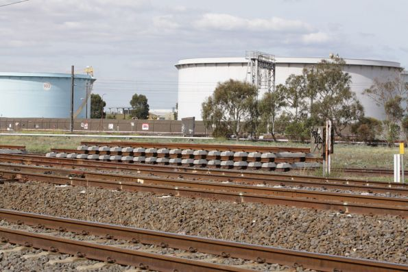 New track panels at the Paisley oil siding, I assume the points are going to be removed