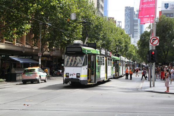 Trams stalled on section insulator