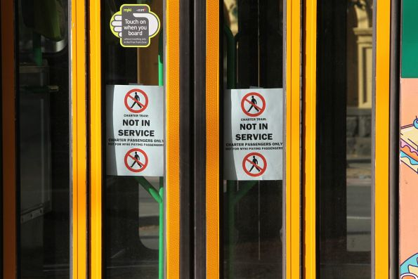 'Not in service' notices in the doors of A2.300