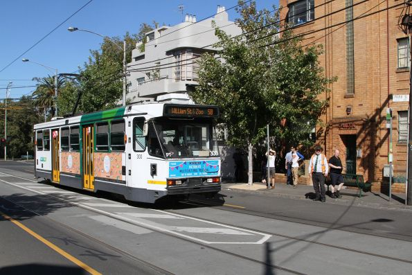 Photo stop for A2.300 on 'route 58' along Park Street in South Yarra