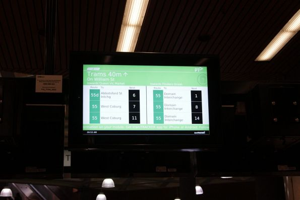 New TramTracker screens switched on at Flagstaff station