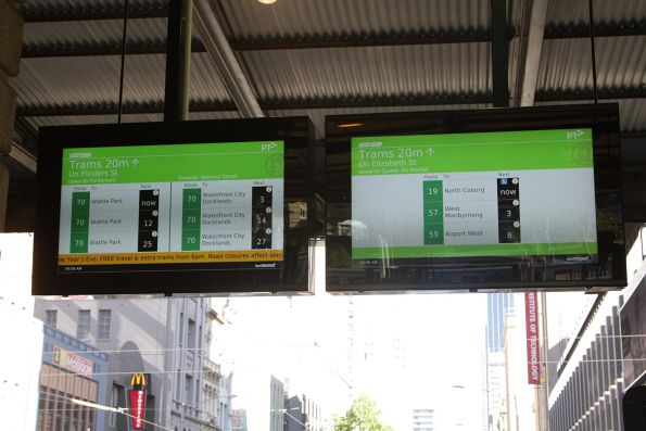 Tramtracker screens commissioned at the Elizabeth Street exit from Flinders Street Station