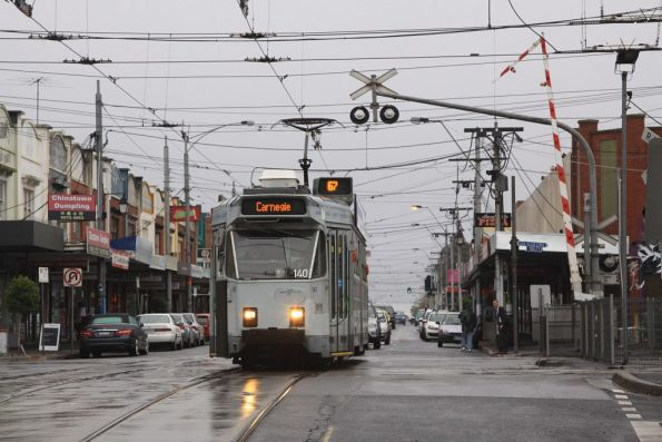 Carnegie-bound Z3.140 crosses the Glenhuntly tramway square