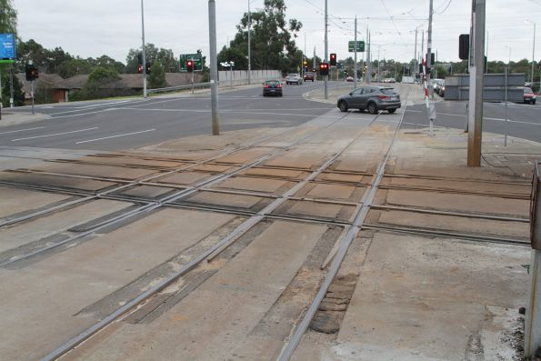 A very beaten up tramway square at Gardiner station