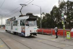 Z1.59 arrives at the Gardiner tramway square with a citybound route 72 service