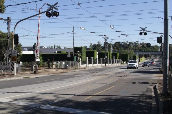 Tram square at Kooyong station