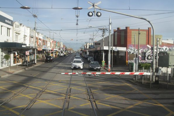 Looking west at the Glenhuntly tramway square