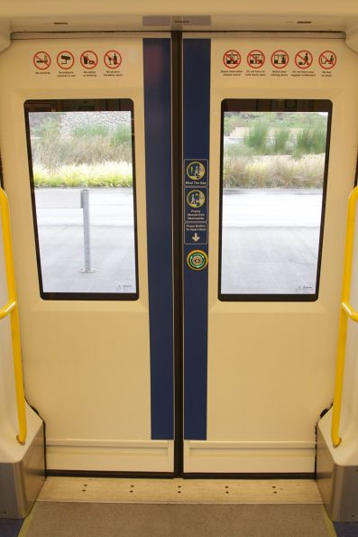 Door buttons on the Adelaide suburban fleet can be triggered before the train stops