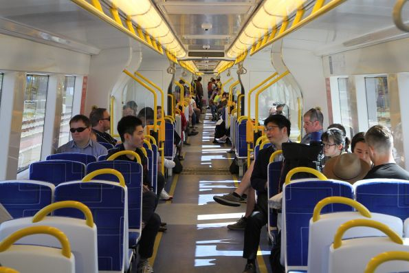 Onboard an A-City train on the Seaford line