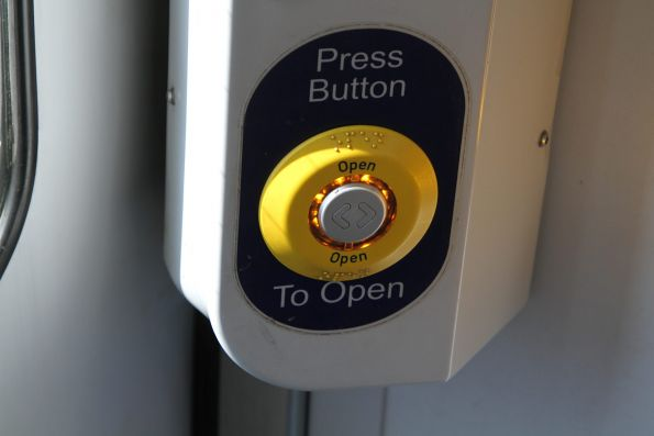 Door release buttons on Adelaide trains remember if you've pushed them before the station stop