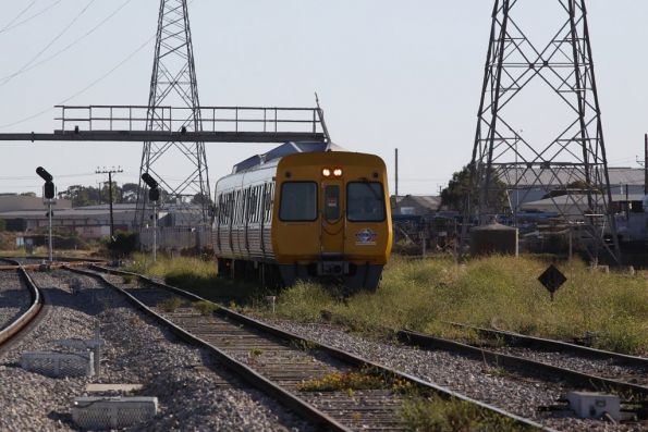 Driver of Comeng 3135 changes ends at Dry Creek