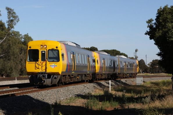 Comeng 3012 at Torrens Junction, forming a 3-car train with a 3100 set