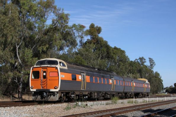 Jumbo 2007 leads a 2-car STA liveried set at Torrens Junction