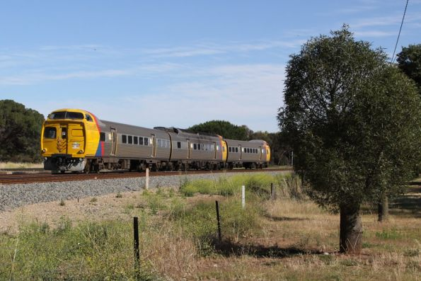 3-car Jumbo set heads through North Adelaide on the down