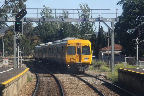 Comeng 3114 makes up a 4-car train arriving into Goodwood station on the up