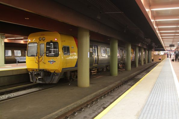 3028 and classmate awaiting departure time from platform 2 at Adelaide Railway Station