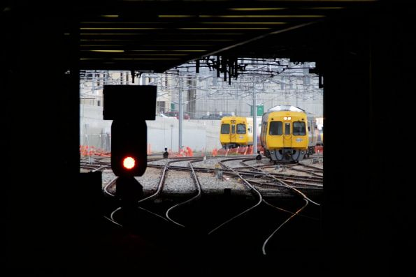 3000 class railcar arriving into Adelaide Railway Station