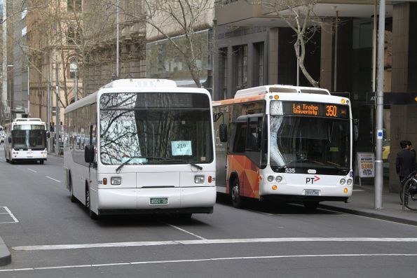 Sita bus #292 BS01QD on a route 219 service at Queen and Collins Street