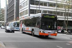 Transdev bus #762 8002AO heads south on route 200 at Queen and Bourke Street