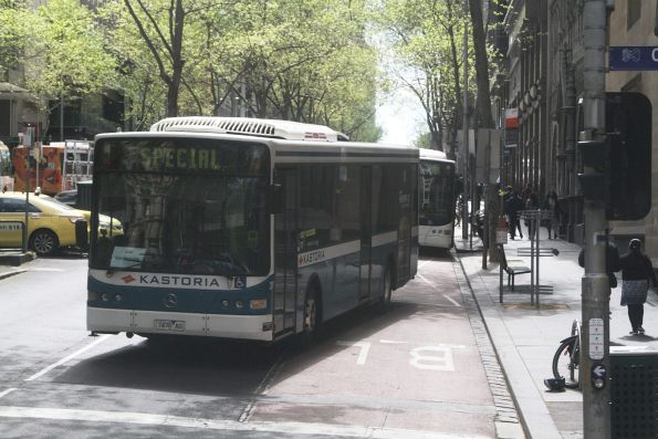 Kastoria bus #37 7470AO on a route 220 service at Queen and Collins Street