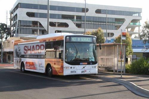 CDC Ballarat bus #187 9068AO on route 220 at Sunshine station