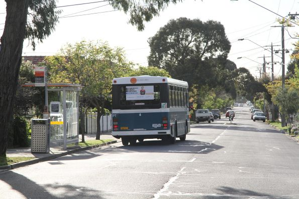 Kastoria high floor bus #6 1406AO on route 216 on Essex Street, West Footscray