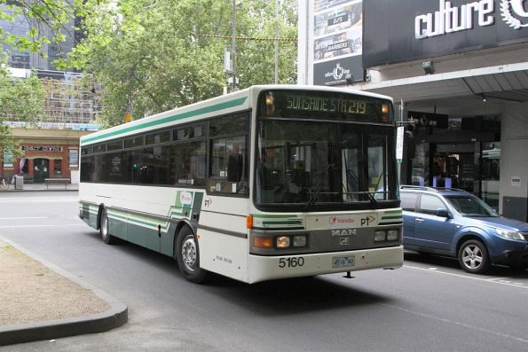 Transdev bus #5160 4516AO on a route 219 service at Flinders and Queen Street