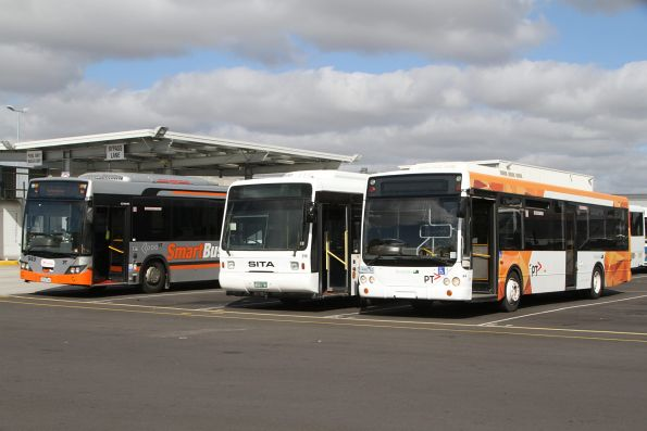 Leased buses at the Transdev depot in Sunshine