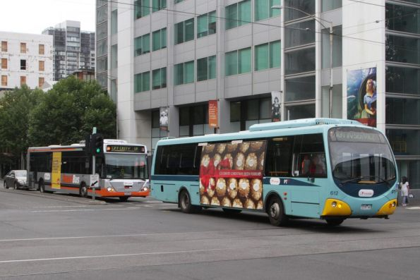 Transdev buses #612 rego 7235AO and #729 rego 1729AO out of service at King and La Trobe Streets