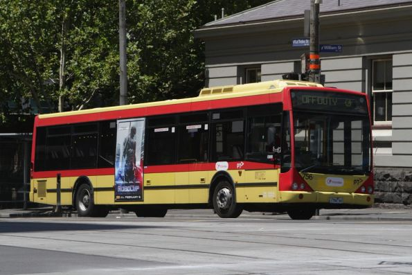 Transdev bus #756 rego 1756AO at La Trobe and William Streets