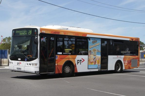 PTV liveried Transdev bus #419 7519AO on route 216 departs Footscray