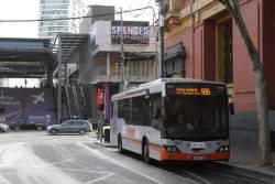 Transdev bus #701 rego 1758AO crosses the Craigieburn line