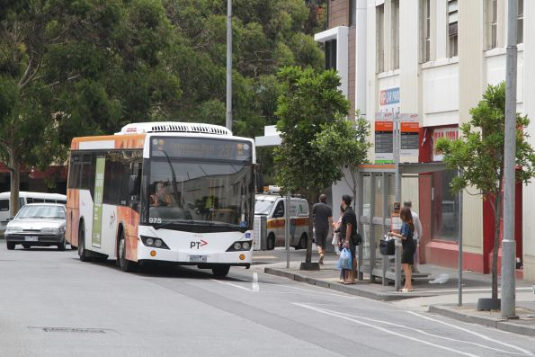 Transdev bus #975 rego 8257AO on a route 239 service at Queen Victoria Market