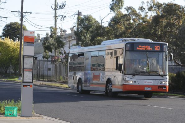 Transdev bus #8379 rego 7634AO on a Mordialloc-bound route 903 service on Market Street in Sunshine