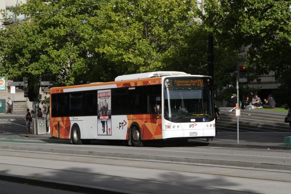 Transdev bus #997 rego 9103AO on a route 237 service outside Southern Cross Station