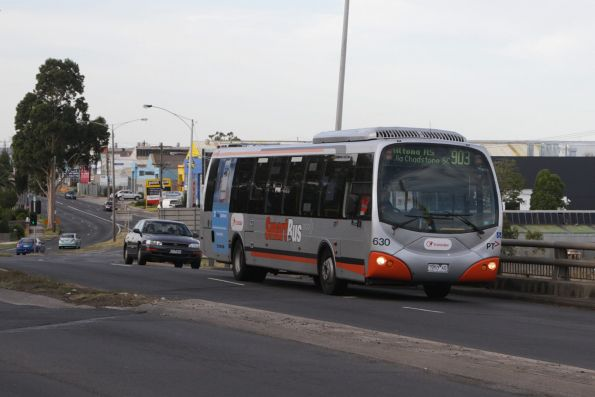 Transdev bus #630 rego 7253AO on a route 903 service heads south at Sunshine North