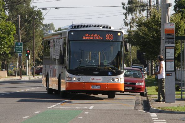 Transdev bus #8613 rego 7976AO on a Mordialloc-bound route 903 service on Hampshire Road, Sunshine