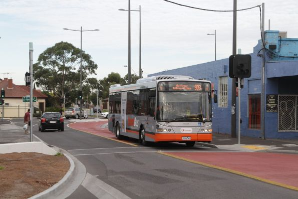 Transdev bus #8299 rego 7636AO arrives at Sunshine station with a route 903 service