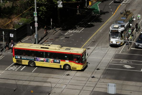 Transdev high floor bus #298 rego 1196AO on a route 237 service at Collins and William Street