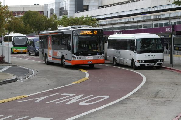Transdev bus #8662 rego 8019AO on a route 901 service at Melbourne Airport