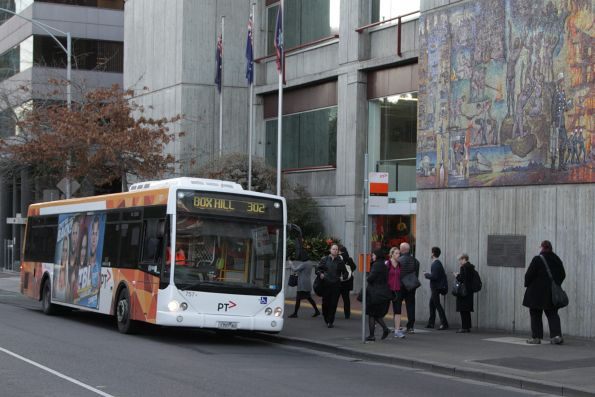 Transdev bus #757 1754AO on a route 302 service at Albert and Gisborne Street
