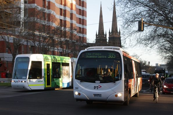 Transdev #592 rego 6856AO on a route 305 service at St Vincent's Plaza