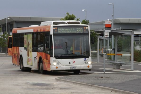 Transdev bus #903 6122AO on a route 370 service at Mitcham station