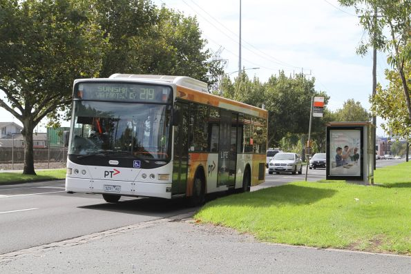 Transdev #391 5291AO on a route 219 service along Dynon Road in West Melbourne
