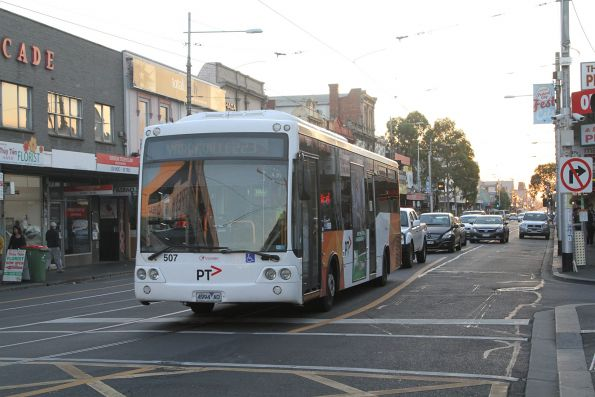 Transdev #507 4994AO on a route 223 service at Footscray
