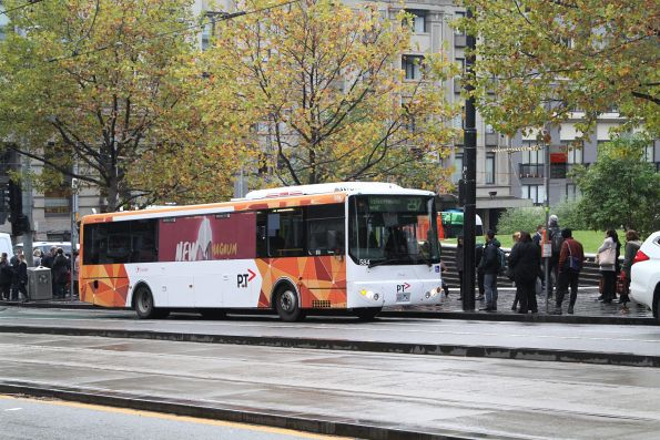 Transdev bus #584 6661AO picks up route 237 passengers outside Southern Cross Station