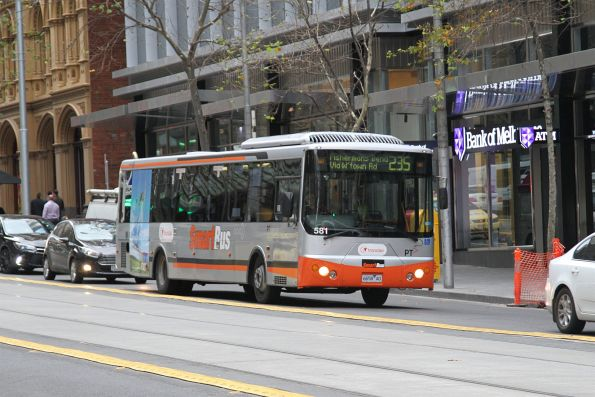 Smartbus liveried Transdev bus #541 6658AO west on route 235 at Collins and King Street