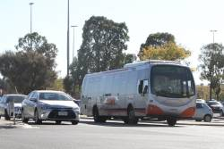 Transdev bus #636 7259AO on a route 903 service diverted along Harvester Road in Sunshine