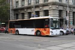 Transdev bus #162 BS03LV heads west on route 237 at Collins and Spencer Street