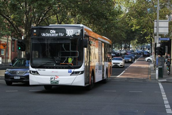 Transdev bus #168 BS03KR on route 907 at Lonsdale and Exhibition Street
